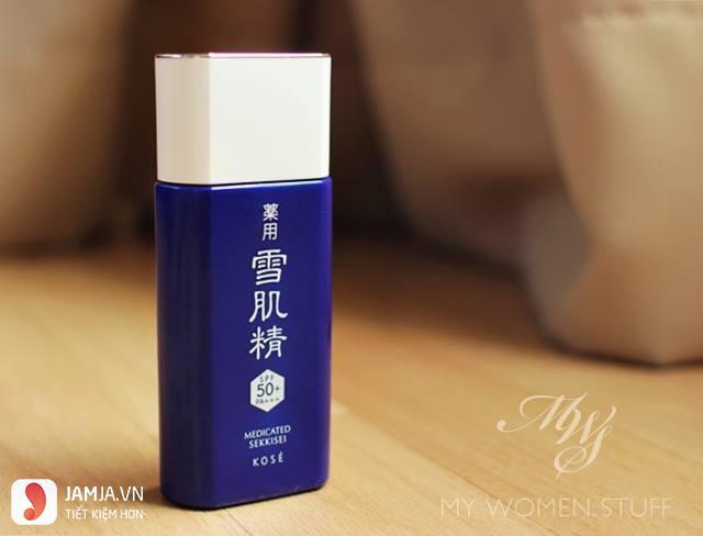 Kem chống nắng Kose Sekkisei Sun Protect Essence Gel 1