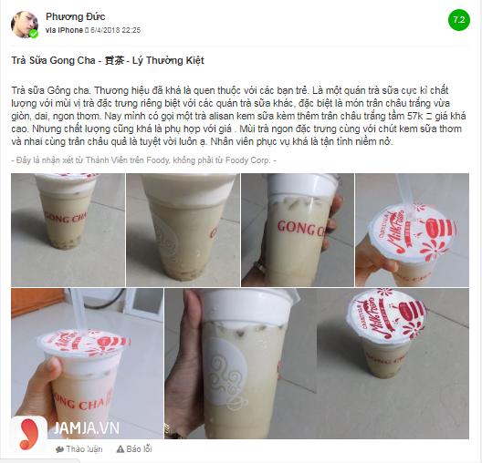 Khách hàng nói gì về đồ uống trong menu Gong Cha - 1