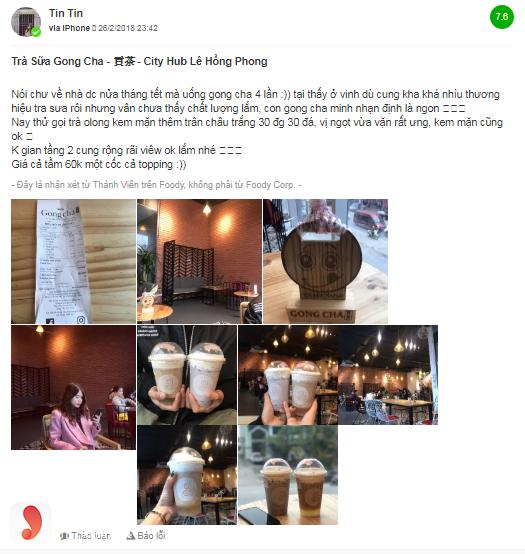 Khách hàng nói gì về đồ uống trong menu Gong Cha - 2
