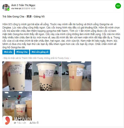 Khách hàng nói gì về đồ uống trong menu Gong Cha - 3