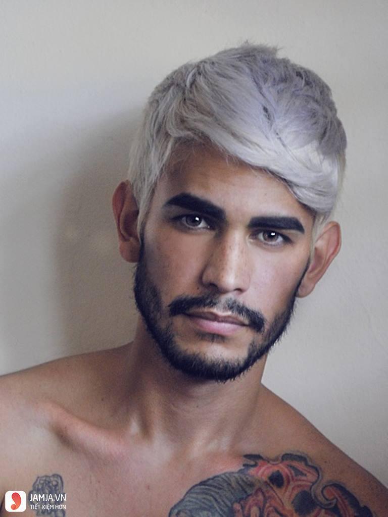 Màu tóc xám khói với mái tóc nam 1