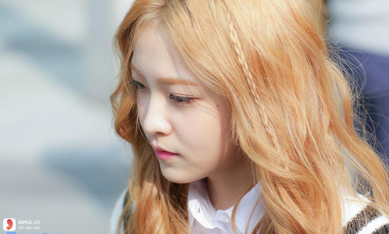 Nhuộm tóc màu vàng đồng 7