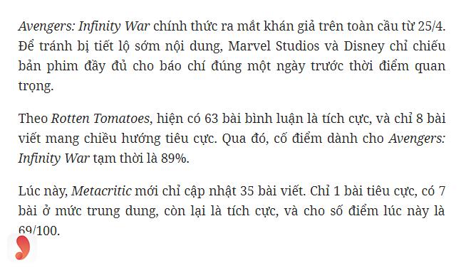 Review Avengers: Cuộc chiến vô cực - 2