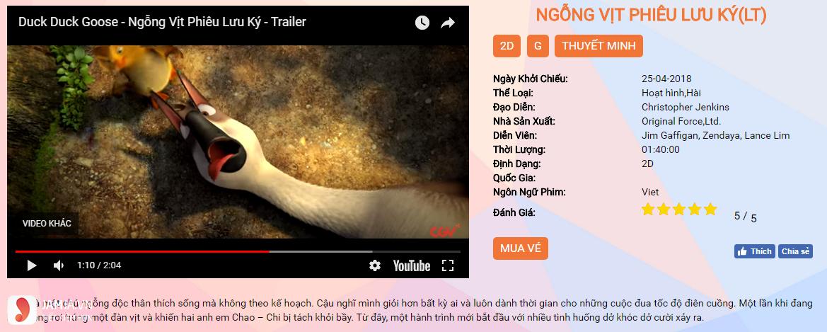 Review phim Ngỗng vịt phiêu lưu ký