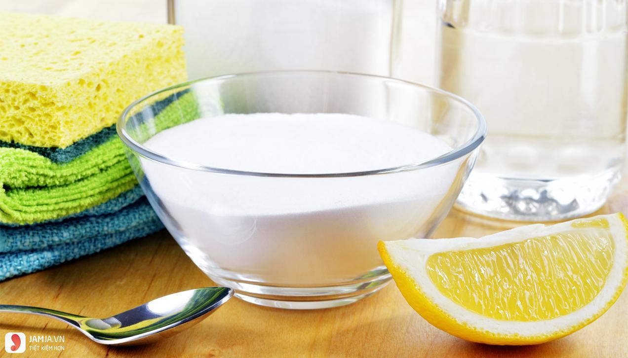 Tẩy tế bào chết bằng baking soda và chanh