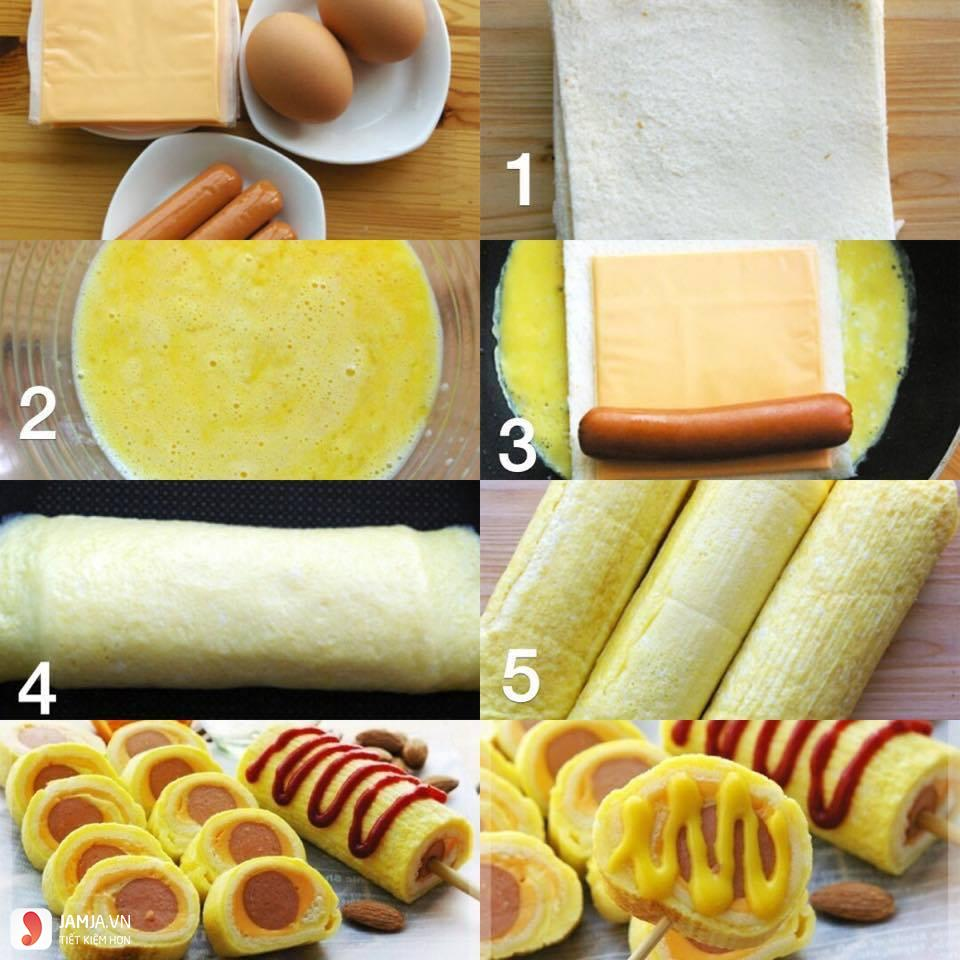 Trứng cuộn xúc xích 2