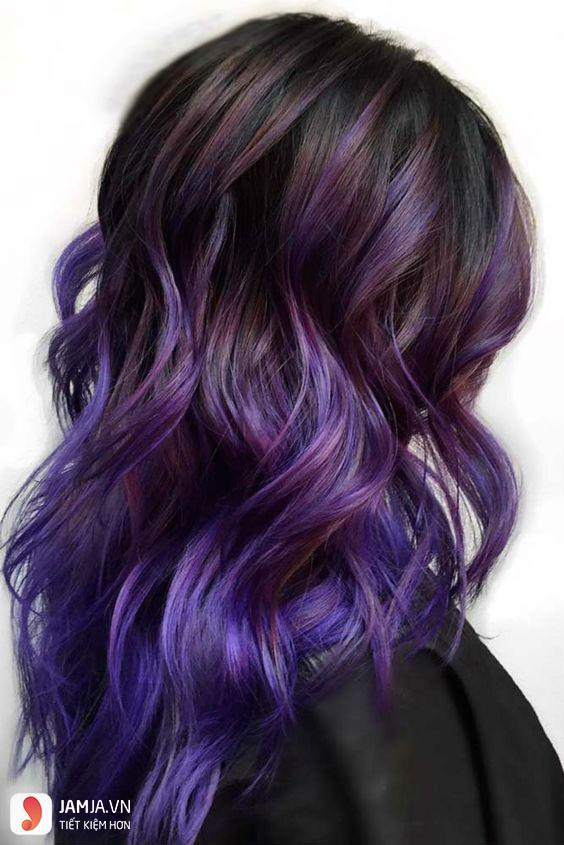 Vì sao nên nhuộm tóc màu tím đen 5