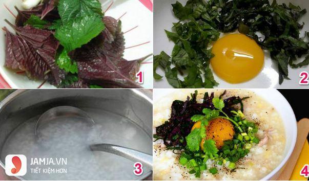 cách nấu cháo trứng gà 2