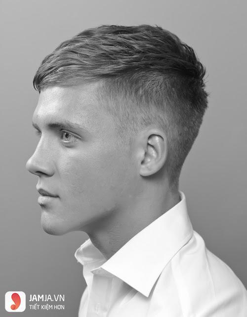 Kiểu tóc undercut mái ngắn xiên 1 bên