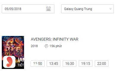 Lịch chiếu phim Galaxy Quang Trung - 6