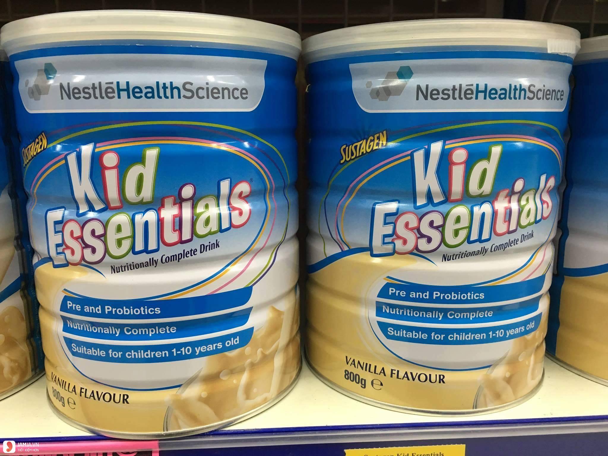 Sữa tăng cân Kid Essentials, sữa tăng cân cho bé