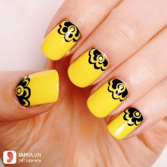 Nail đẹp màu vàng - 1