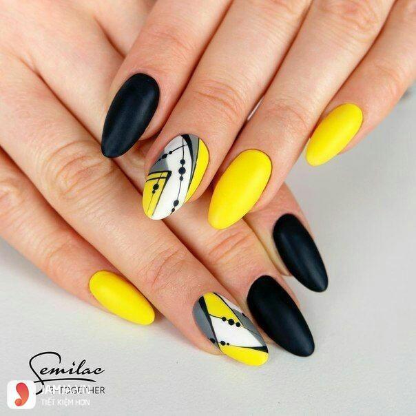 Nail đẹp màu vàng - 3