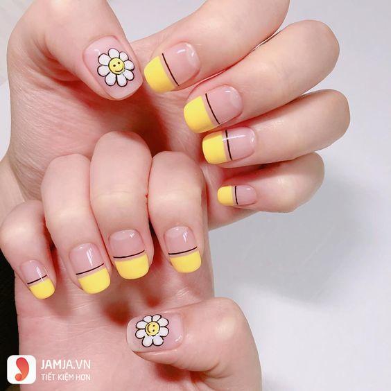 Nail đẹp màu vàng - 5
