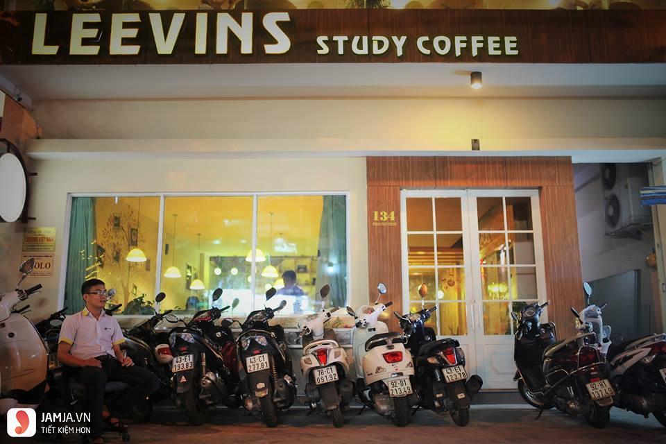 quán cafe yên tĩnh ở đà nẵng Leevins Study Coffee 1