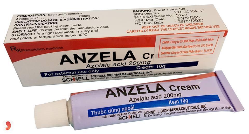 Anzela Cream trị mụn