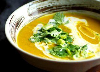 cách nấu súp bí đỏ cho bé 1