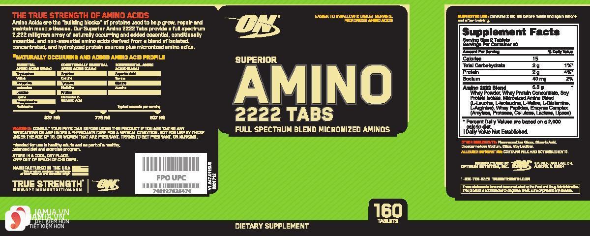 Sử dụngAmino 2222 có tác dụng phụ không