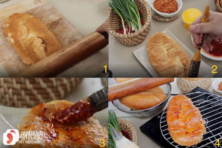 cách làm bánh mỳ nướng muối ớt 5
