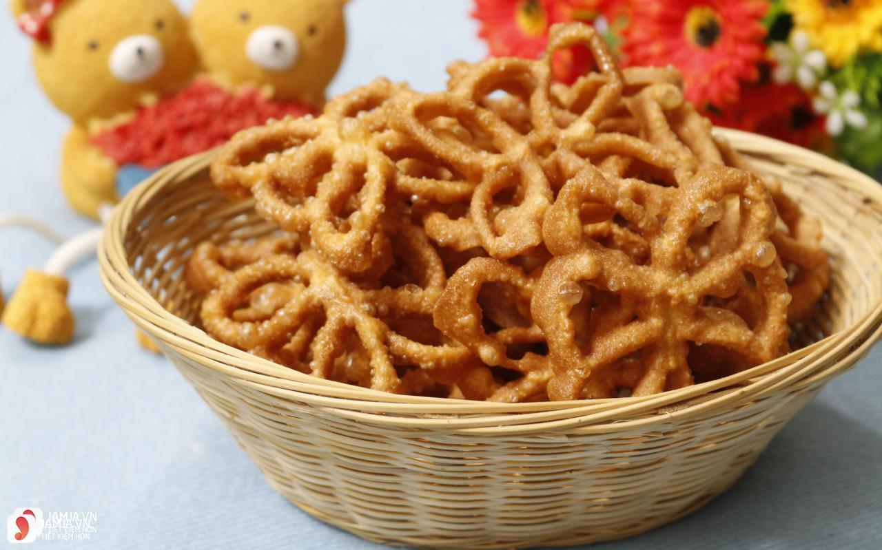 cách làm bánh nhúng từ bột mì 1