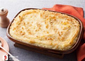 Cách làm khoai tây nghiền phô mai