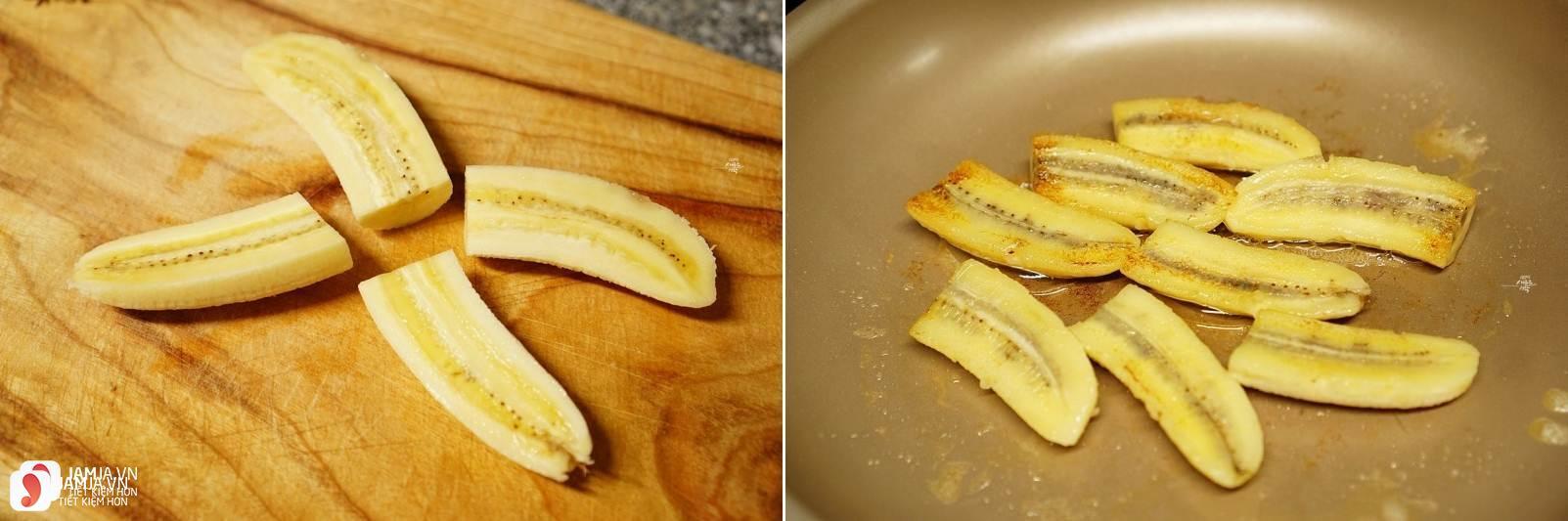 Cách làm món bánh hoa quả chiên với bột mì 2