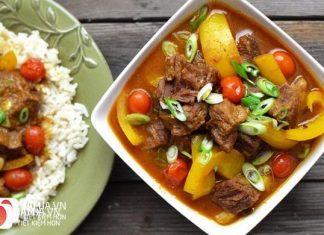 Cách nấu cà ri bò Ấn Độ