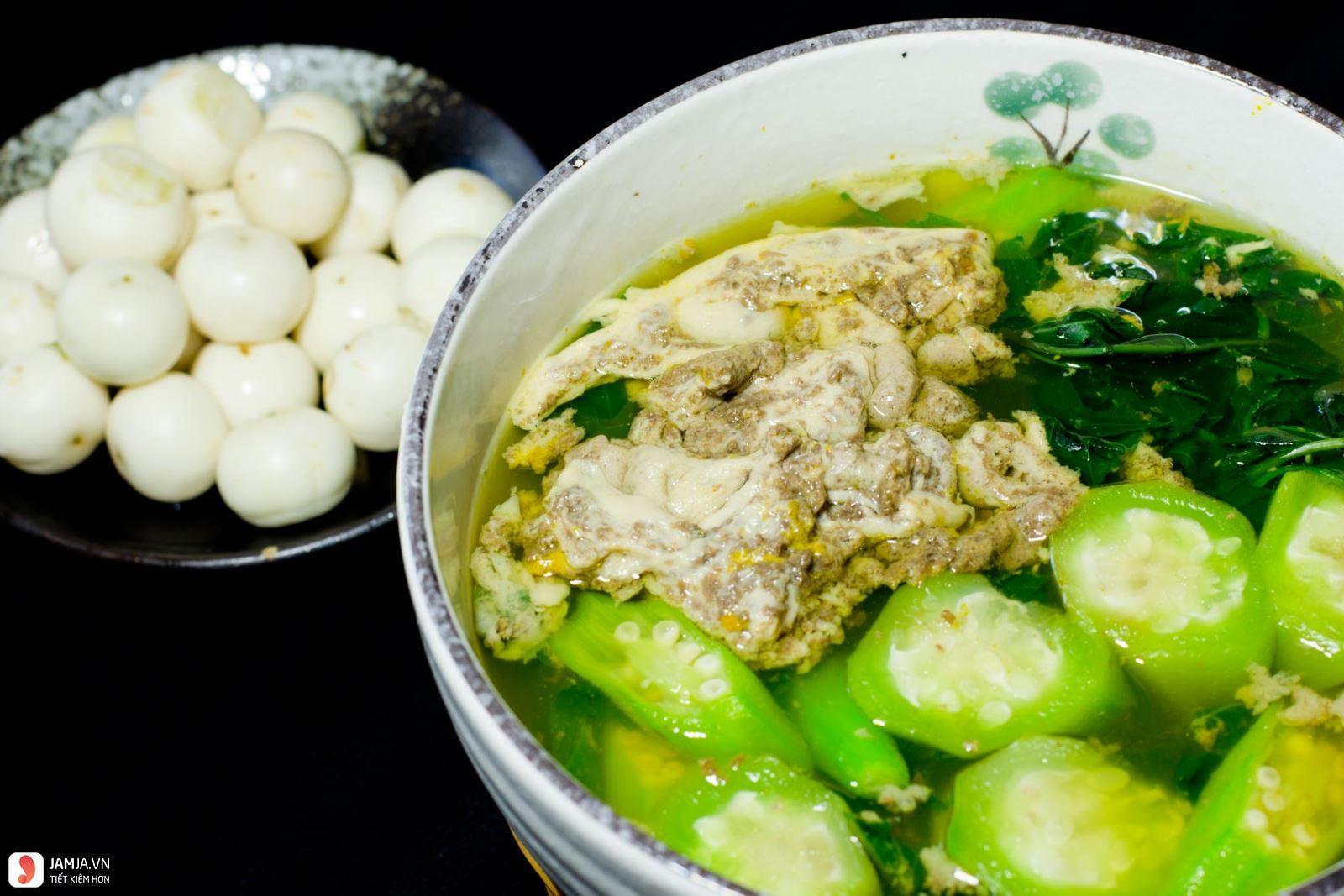 Cách nấu canh rau đay không bị nhớt vớt cua đồng 4