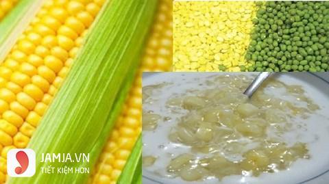 cách nấu chè bắp đậu xanh 8