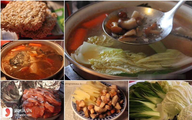 cách nấu lẩu cá hồi măng chua 2