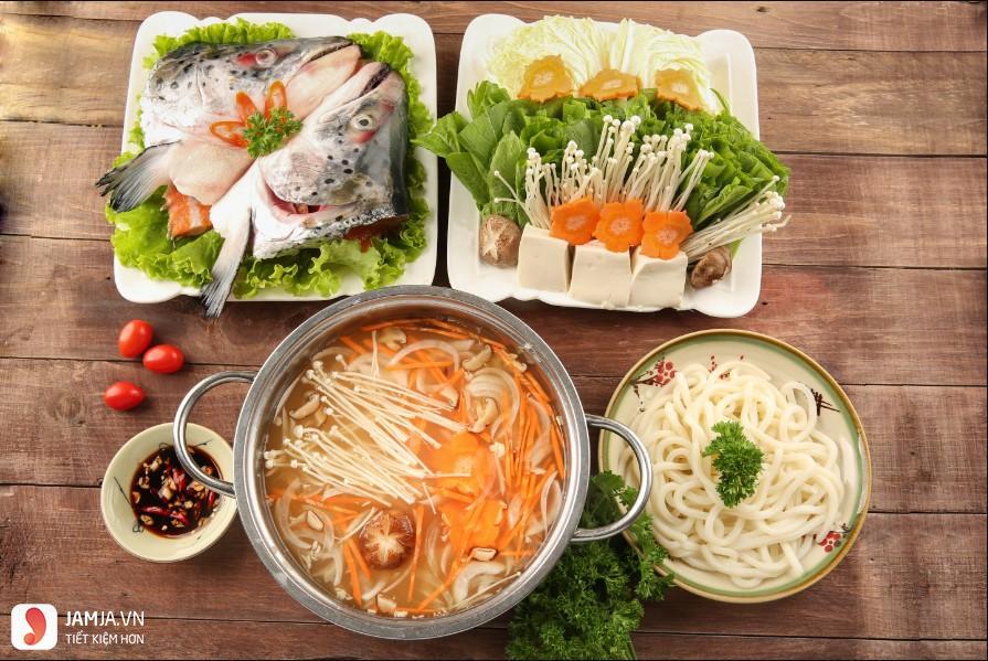 cách nấu lẩu cá hồi nấu nấm 4