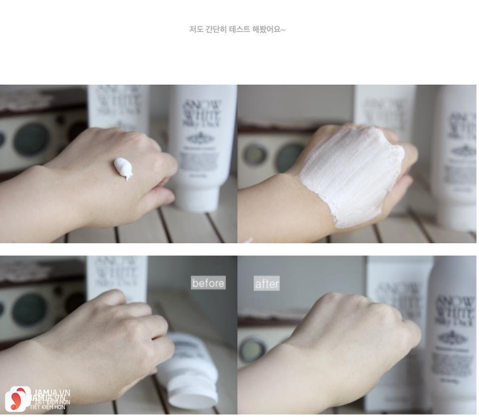 Cách sử dụng kem tắm trắngSnow White Milky Pack 3