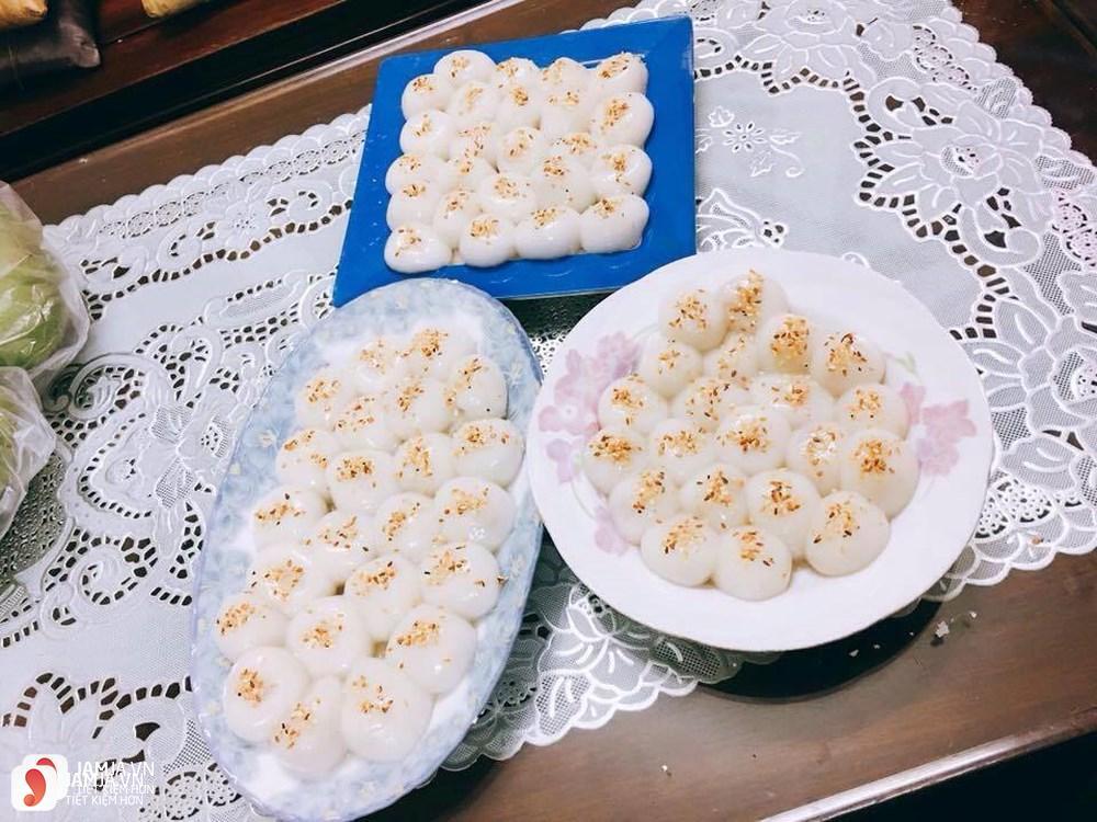Cách nấu chè trôi nước nhân đậu xanh và dừa thơm béo 4