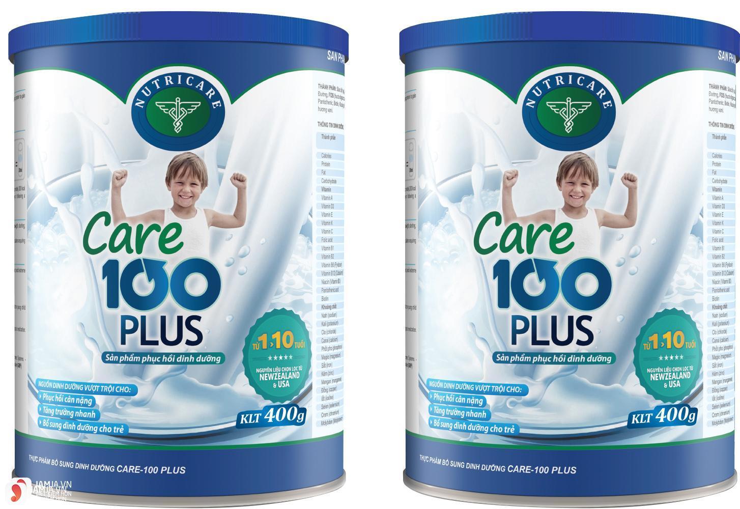 Những điều cần biết về sữaCare 100 Plus 3