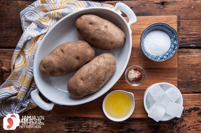 nguyên liệu làm khoai tây chiên bột mì
