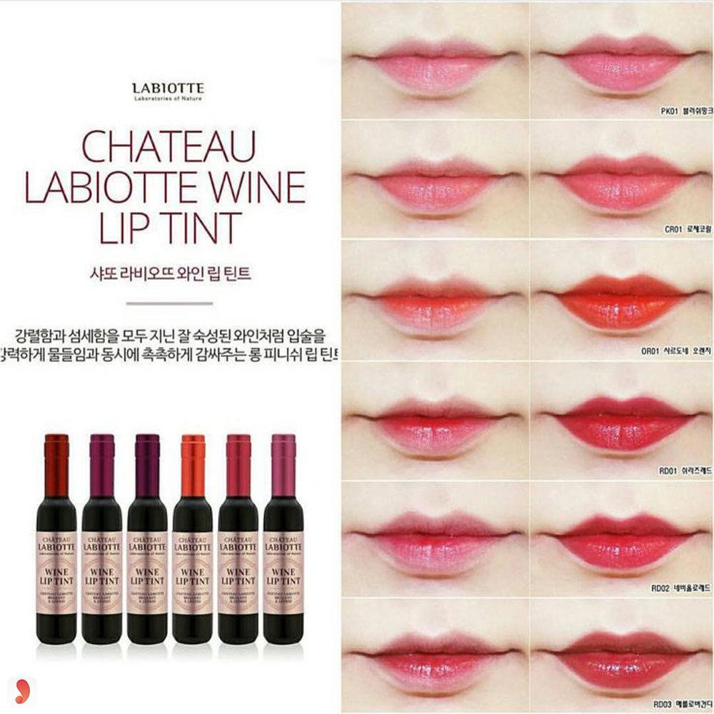 son rượu vang LabiotteWine Lip Tint 1