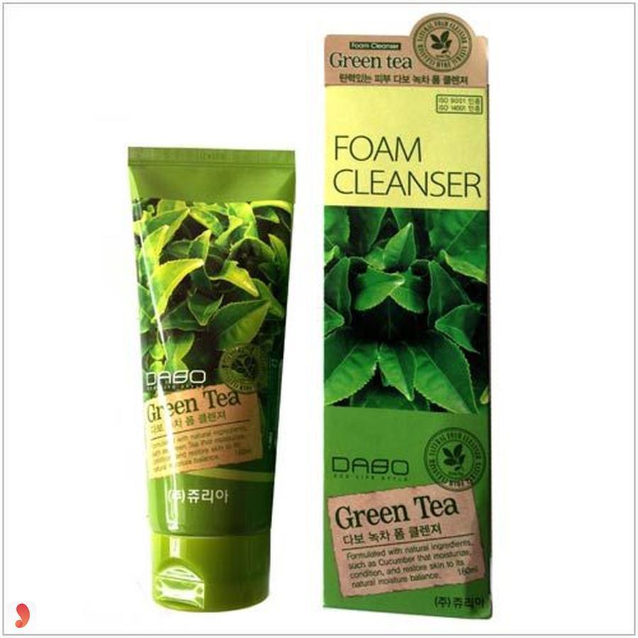 Sữa rửa mặt Trà xanh trị mụn cho nam Green Tea Dabo