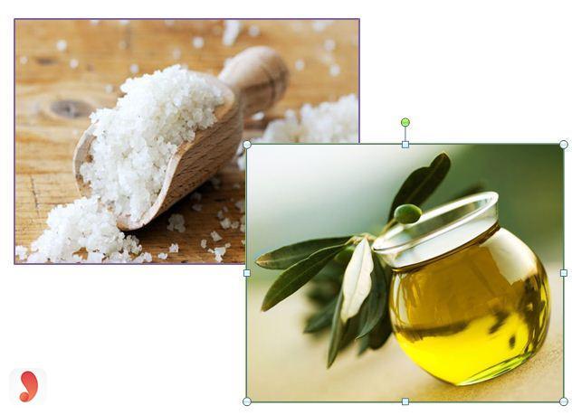 Tẩy tế bào chết da mặt bằng đường và dầu ô liu
