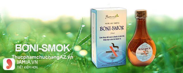 Tìm hiểu về sản phẩm nước súc miệng Boni Smok
