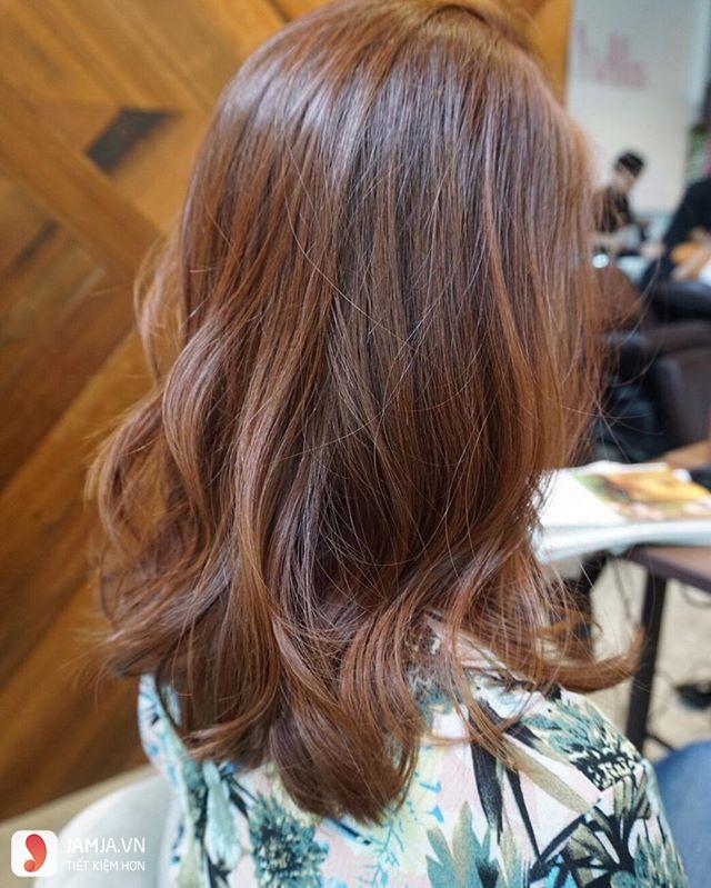 tóc nhuộm màu nâu gỗ2