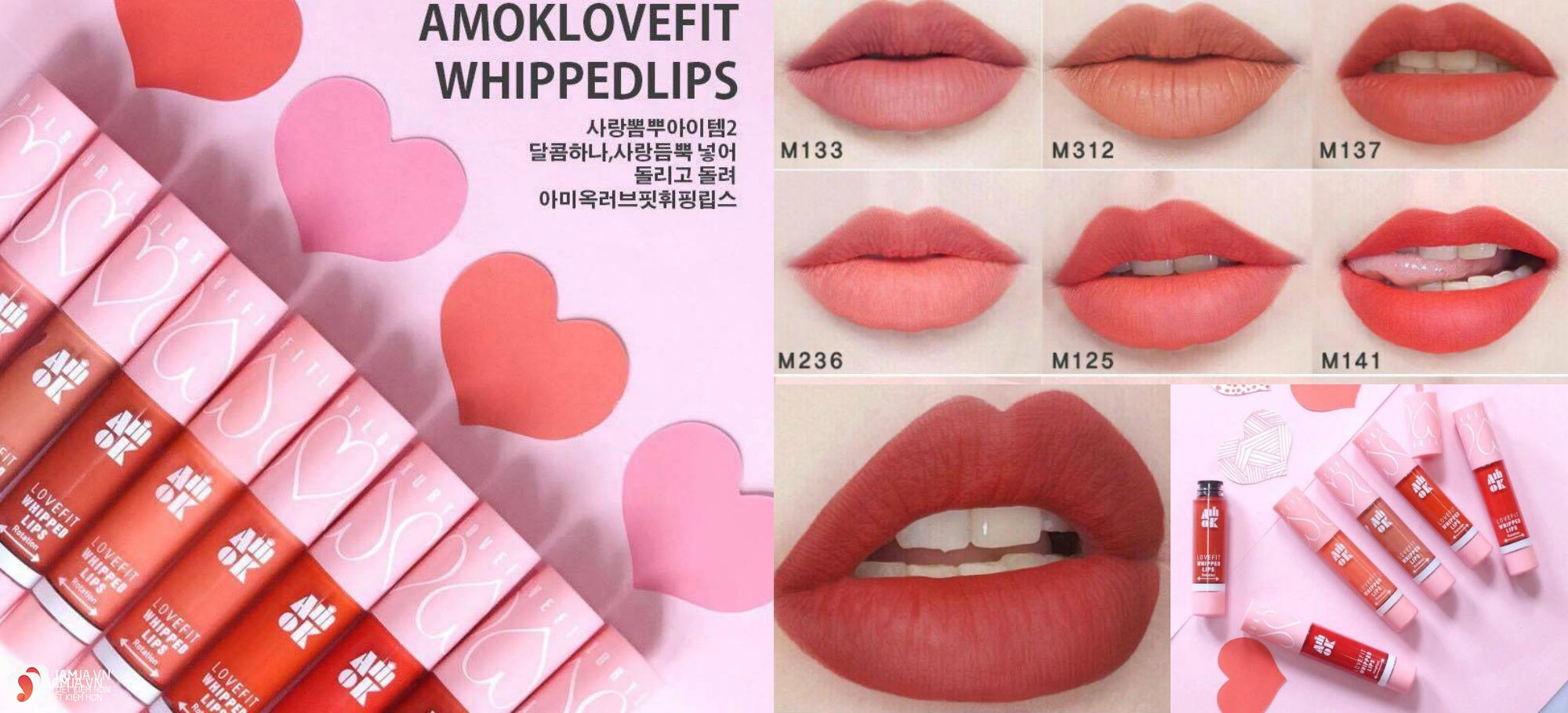 bảng màu Amok Lovefit Whipped Lips 2