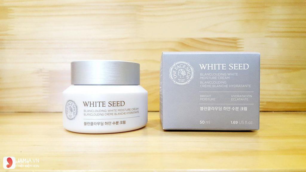 Kem dưỡng trắng da White Seed Blanclouding Moisture Cream 1