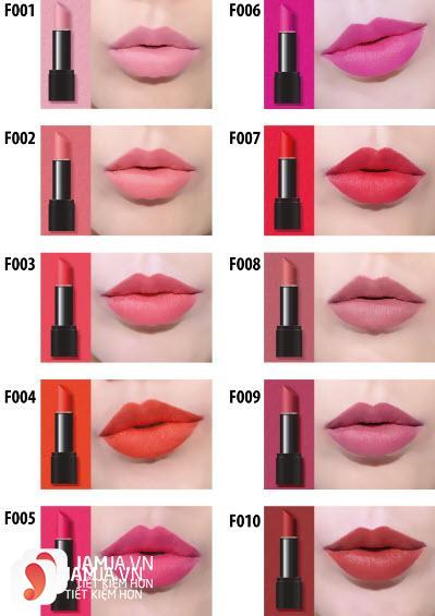 son Amok vỏ đen Strongfix Lipstick