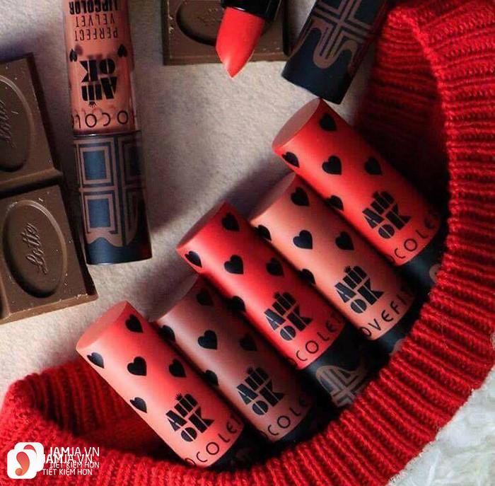 Son kem Amok Lovefit Chocolate Lip Color 3