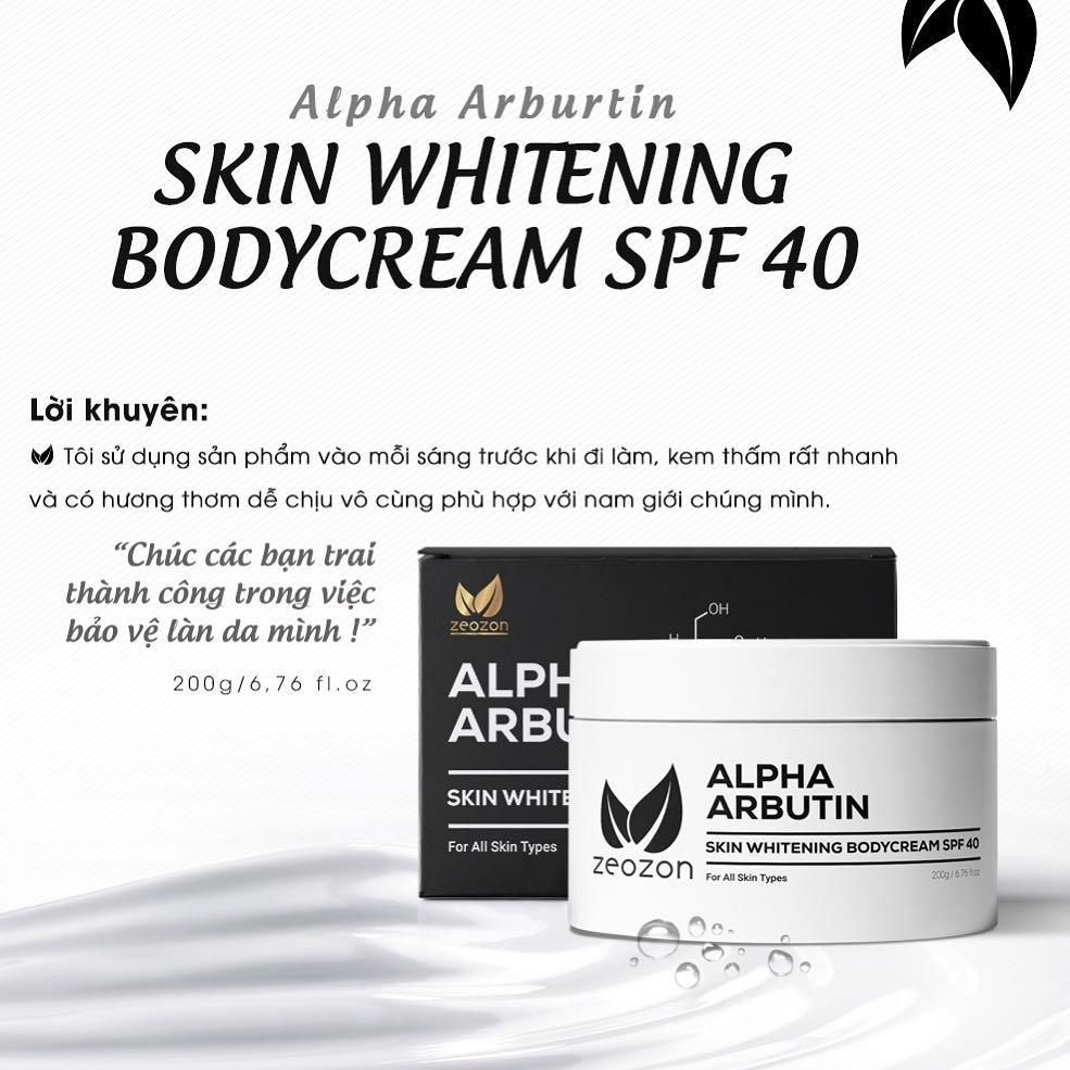 Zeozon Skin Whitening Body Cream SPF 40 review