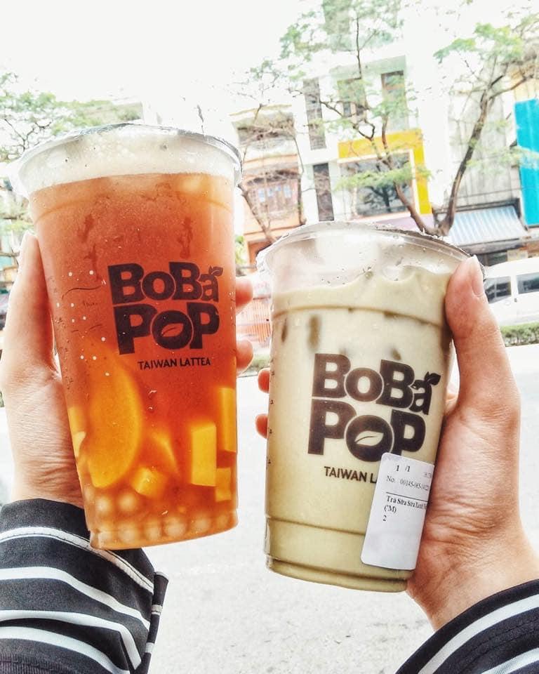 Trà sữa Bobapop - Đào Tấn menu
