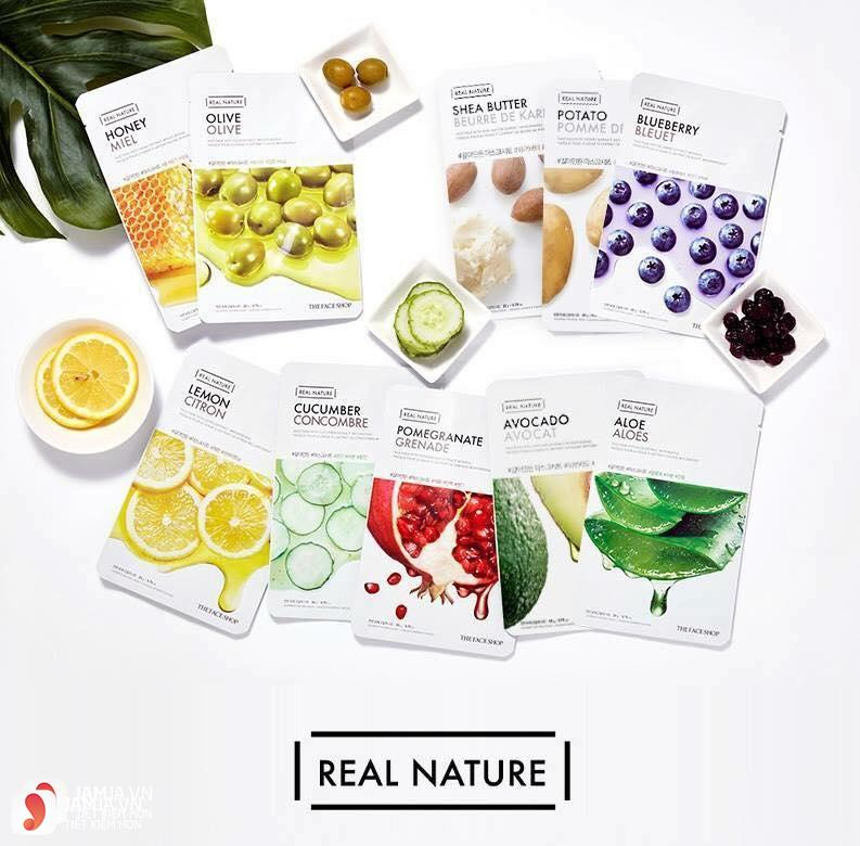 Các dòng mặt nạ The Face Shop Real Nature Mask Sheet 2