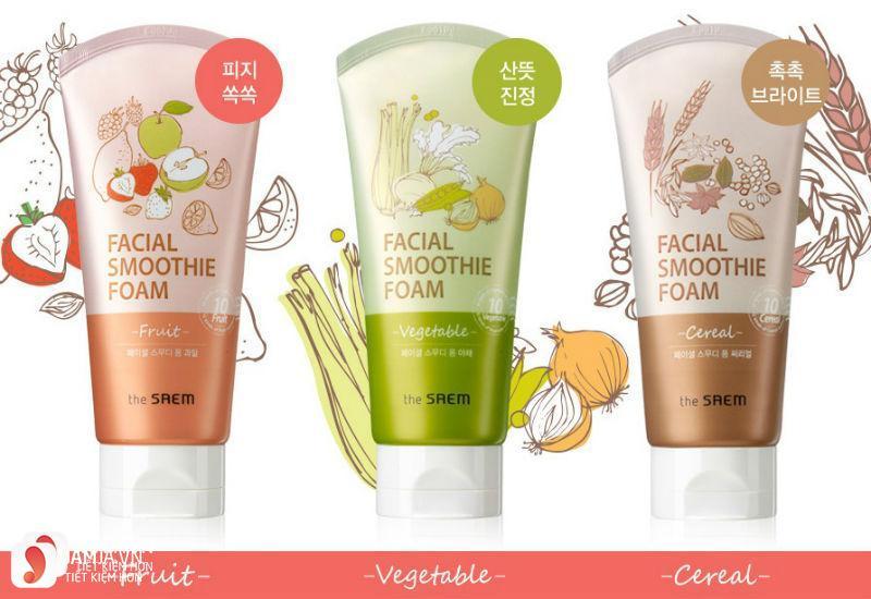 Sữa rửa mặt Facial Smoothie Foam Vegetable 2