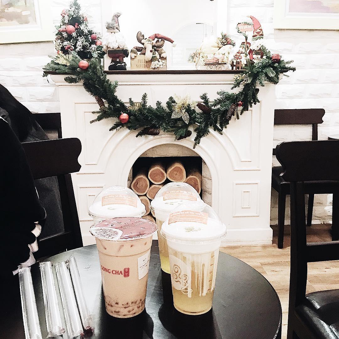 Trà sữa Gong Cha - Lý Thường Kiệt trang trí