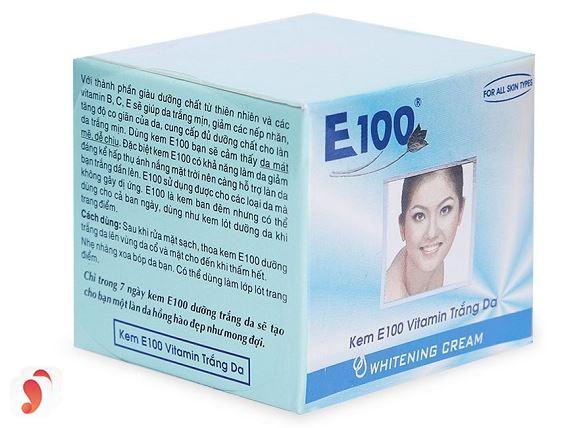 Kem dưỡng trắng da E100 có tốt không 3